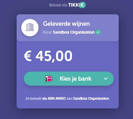 voorbeeld Tikkie betaling